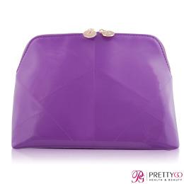 YSL 拼接紫色壓紋化妝包