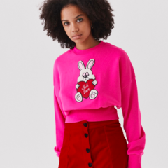 f0a555618b Lazy Oaf Not Here Bunny Sweatshirt