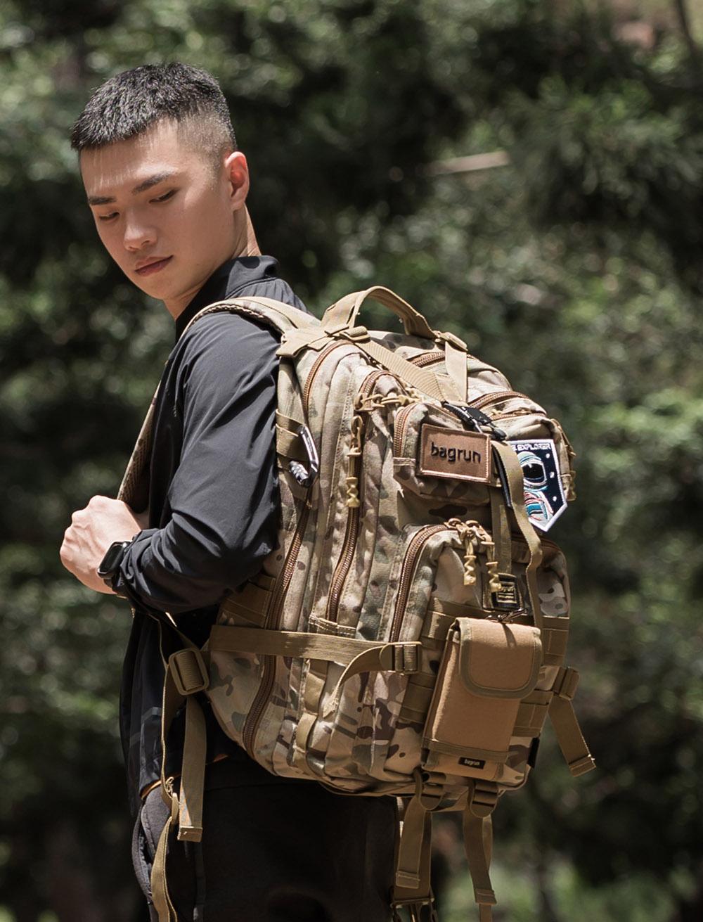二代都會玩家軍事風格瞬開後背包