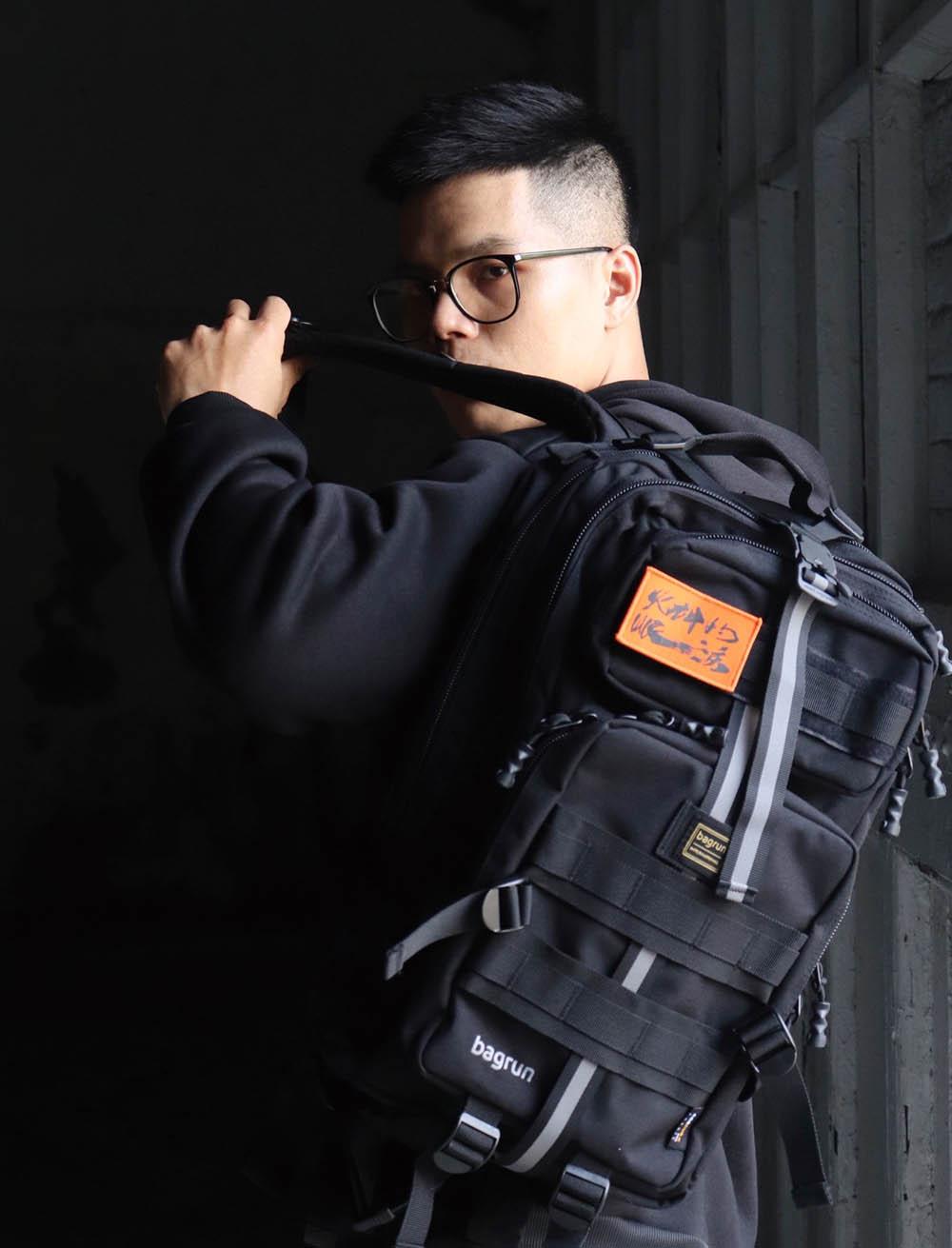 火神的眼淚聯名版二代軍事風格瞬開後背包-L
