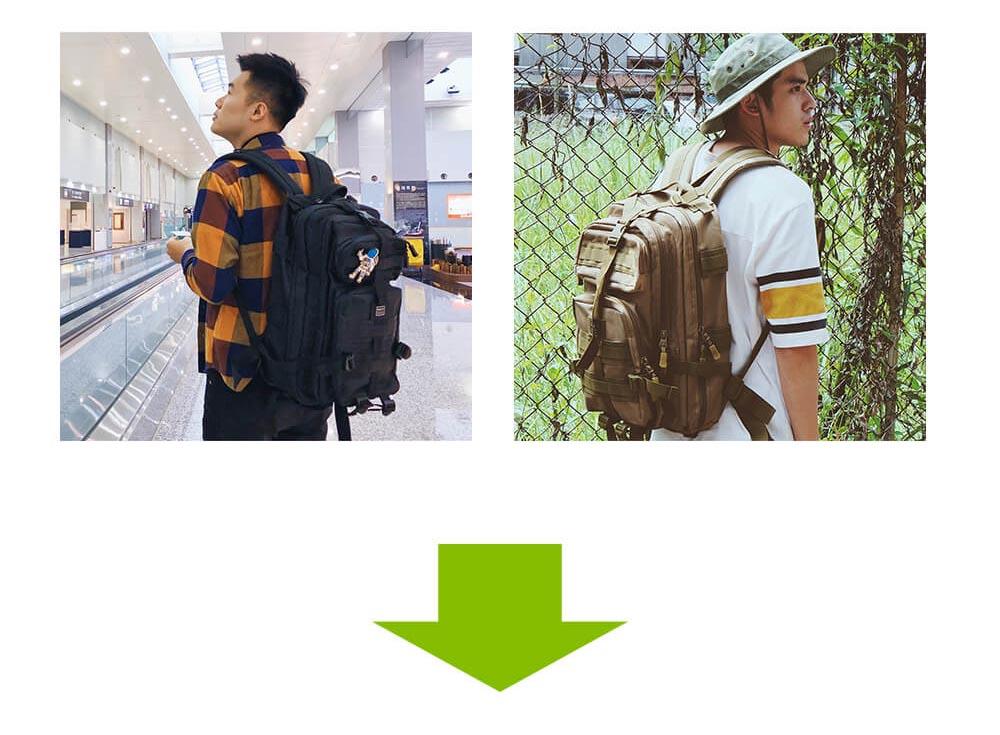 都會玩家軍事風格後背包