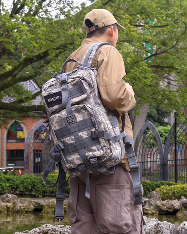 都會玩家軍事風格後背包-L