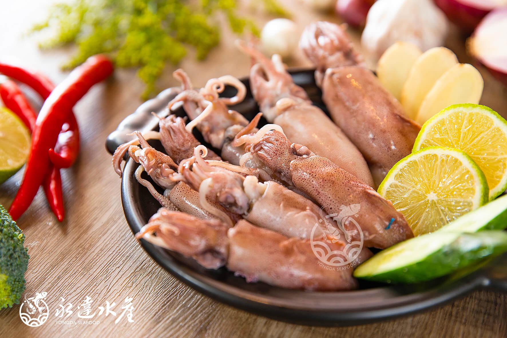 水產|海鮮|鮮凍熟小卷|鎖管|小卷|小管