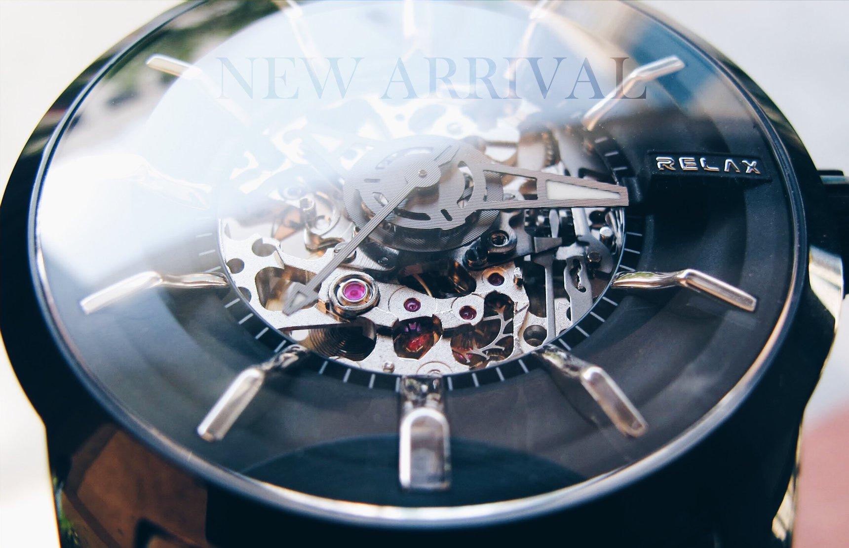 Relax Time【新品上市】日本機芯‧機械錶款RT-38J ∕  男錶 ∕ 8n24機芯 大錶徑設計搭配立體時標,藍寶石水晶鏡面